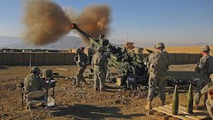 US military Howitzer