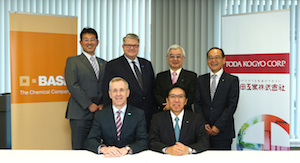 BASF and Toda Kogyo officials