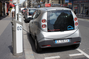 The batteries are already being used in a Parisian car-sharing scheme called Autolib in which members can rent a car for short slots in the city centre and leave it plugged into a charging station.