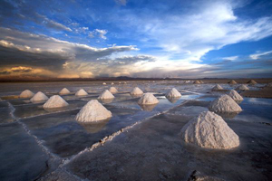 The Uyuni Salt Flats hold up to 100m tonnes of lithium