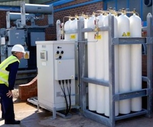 Flow Battery compressed-air backup