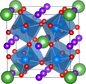 Crystal structure of a double perovskite
