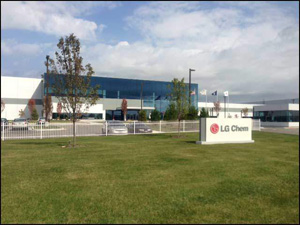 LG Chem's plant in Holland, Michigan finally active