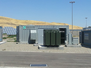 Santa Rita Jail Smart Grid project's energy storage management system supplied by S&C Electric Company