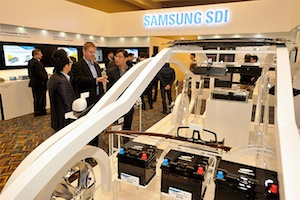 Samsung SDI at Detroit Auto Show